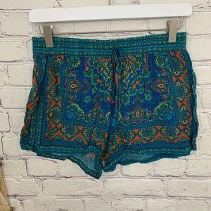 Gypsies and Moondust scarf print shorts